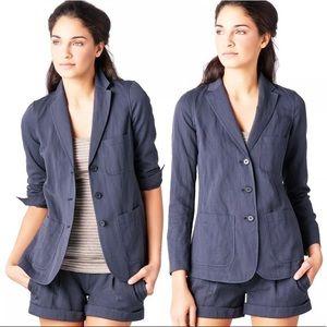 Vince Coastal Blue Relaxed Blazer jacket Size 6